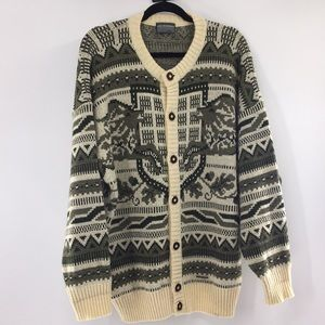 Sigi Scheiber full button sweater